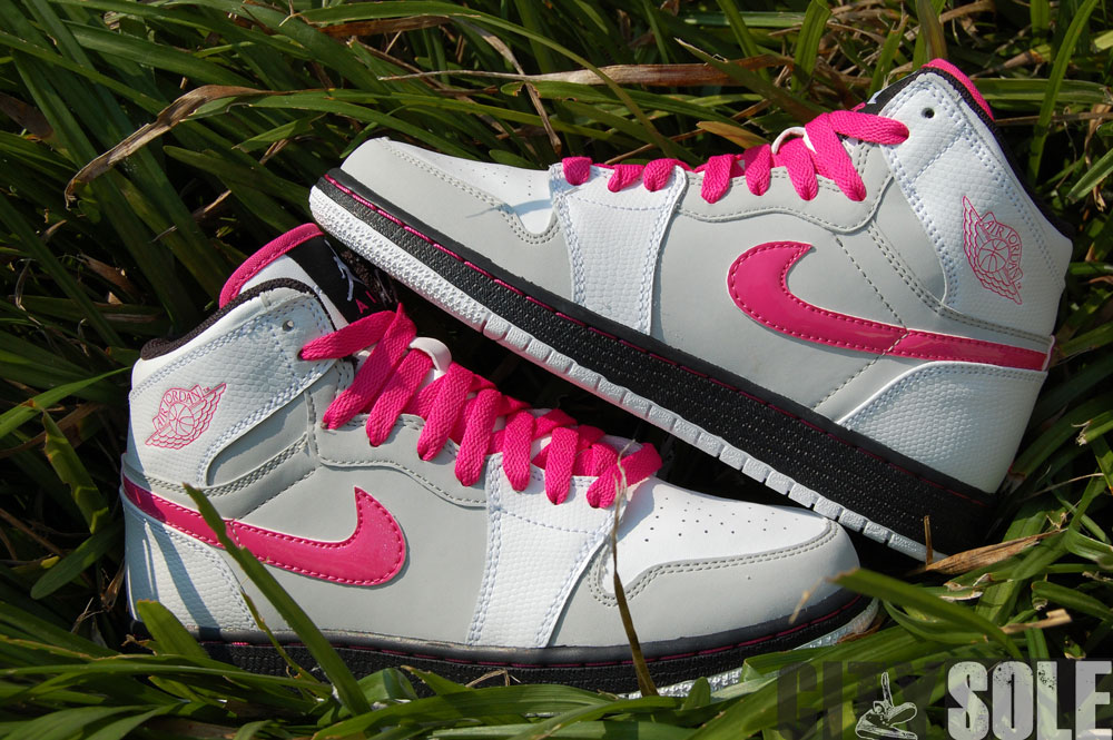 air jordan 1 white/vivid pink-neutral grey